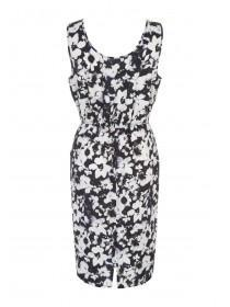 Womens Purple Floral Midi Dress