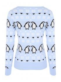 Womens Penguin Xmas Jumper