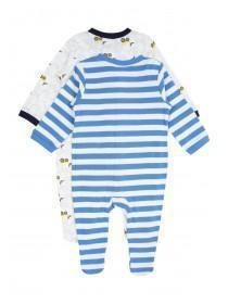 Baby Boys 2PK Digger Sleepsuits