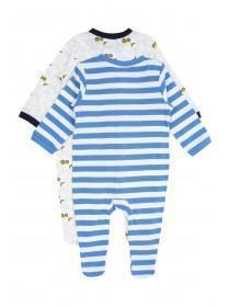 Baby Boys 2PK Digger Sleepsuits
