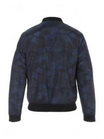 Mens Blue Camo Bomber Jacket