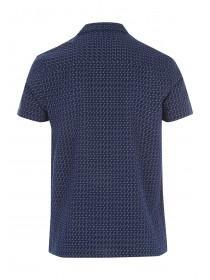 Mens Blue Weave Open Shirt