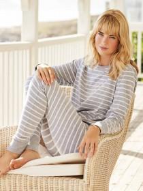 Womens Grey Long Sleeve Pyjamas