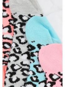 Womens White 5PK Trainer Socks