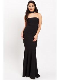 Jane Norman Black Maxi Bandage Dress