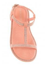 Younger Girls Pink Opentoe Sandals