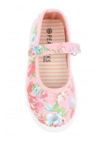 Younger Girls Pink Caterpillar Canvas Shoes