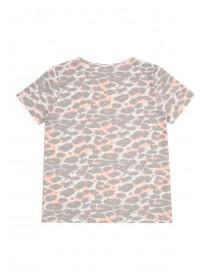 Older Girls Grey Leopard Pyjama Top