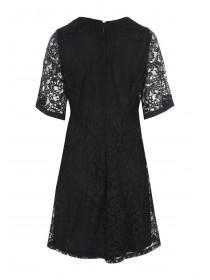 Womens Black Fit And Flare Lace Dress