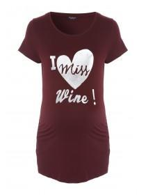 Womens Maternity Slogan T-Shirt
