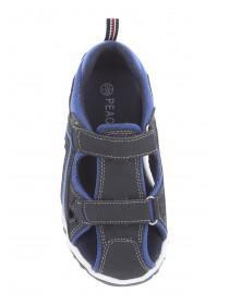 Younger Boys Grey Velcro Adventure Trainers