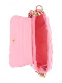 Older Girls Pink Quilted Crossbody Bag