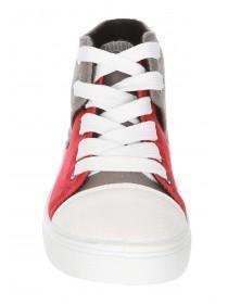 Younger Boys Red High Top Trainers