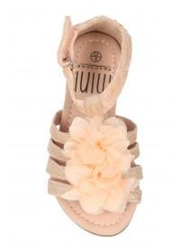 Younger Girls Pink Corsage Sandals