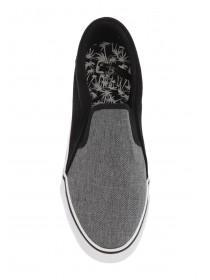 Mens Grey Canvas Skater Shoes
