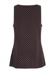 Womens Black Viscose Vest