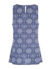 Womens Dark Blue Viscose Vest