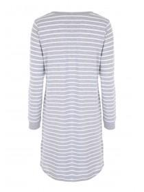 Womens Grey Long Sleeved Nightdress