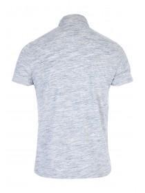 Mens Blue Space Dye Polo Shirt