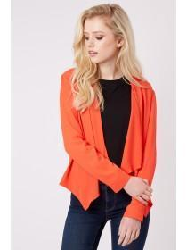 Jane Norman Orange Chiffon Waterfall Jacket