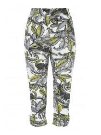 Womens Lime Print Cropped Trouser