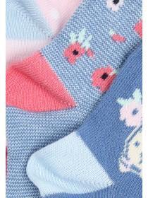 Baby Girls Pink 3PK Bunny Socks