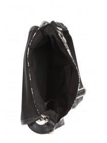Womens Black Crossbody Canvas Bag
