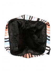 Womens Multi Striped Beach Bag