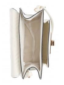 Womens White Painted Edge Crossbody Bag