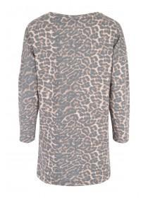 Womens Leopard Print Slogan Sweater