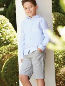 Older Boys Light Blue Oxford Shirt