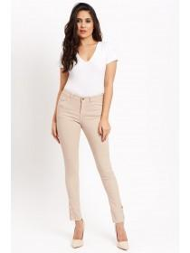 Jane Norman Pale Pink Popper Cuff Skinny Jeans