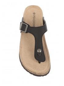 Womens Black Toe Thong Sandals