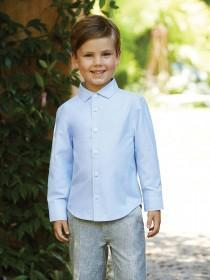Younger Boys Light Blue Oxford Shirt