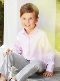 Younger Boys Pale Pink Oxford Shirt