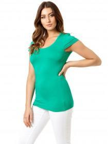 Jane Norman Green Frill Sleeve Top