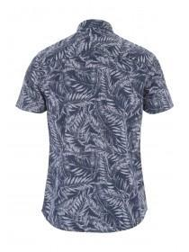Mens Short Sleeve Palm Print Shirt