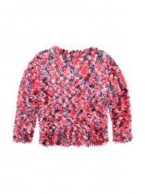 Younger Girls Multi Fluffy Jumper