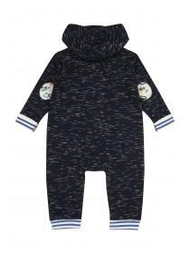 Baby Boy Blue Hooded Digger Onesie