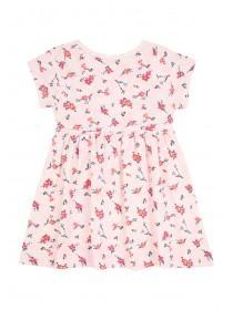 Baby Girls Pale Pink Printed Dress