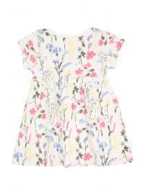 Baby Girls White Printed Dress