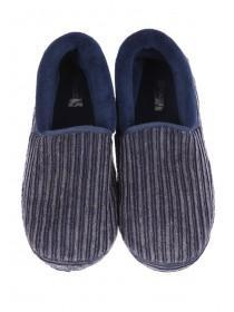Mens Dark Blue Super Soft Slippers