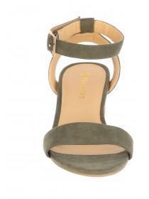 Womens Khaki Two Part Sandal