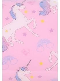 Womens Purple Unicorn Thin Cosmetic Case