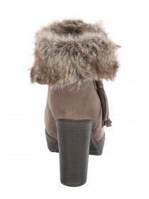 Womens Fur Collar Platform Boots