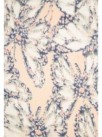 Womens Pale Pink Butterfly Chiffon Scarf
