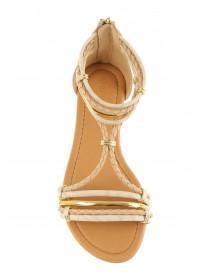 Womens Cream Opentoe Strappy Sandals