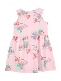 Younger Girls Pale Pink Sleeveless Jersey Dress