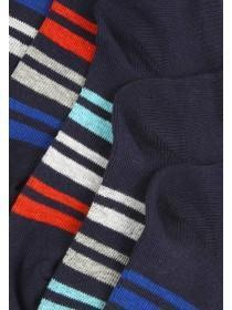 Boys 5PK Dark Blue Trainer Socks