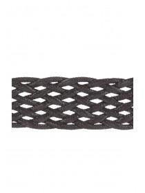 Womens Black Wide Weave Choker